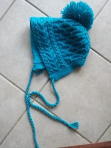Blue Neon Ski Bonnet